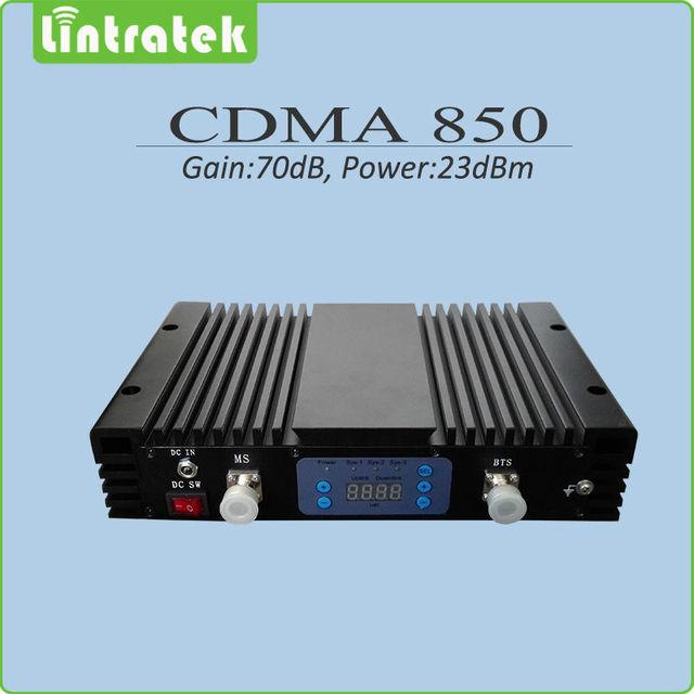 Grande Poder de Ganho de 70dB 850 mhz Reforço de Sinal repetidor de celular 850 mhz CDMA de telefonia móvel repetidor de sinal com display lcd e AGC/MGC