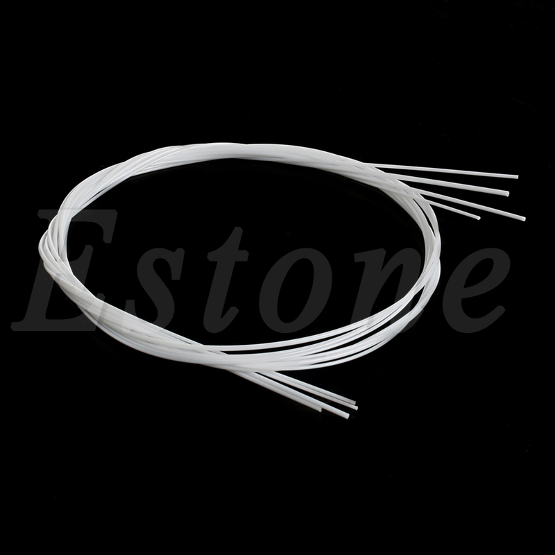 A Set of 4 Strings White Nylon Replacement Part for Ukulele Guitar NEW kapok dgs28 43 silver plated nylon strings for classical guitar transparent silvery white