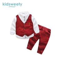 Kidsweety Formele Suits Boy Kleding Mode Winter Peuter Baby Outfit Baby Pak Zuigeling Formele Gentleman Stropdas Pak Kids Set