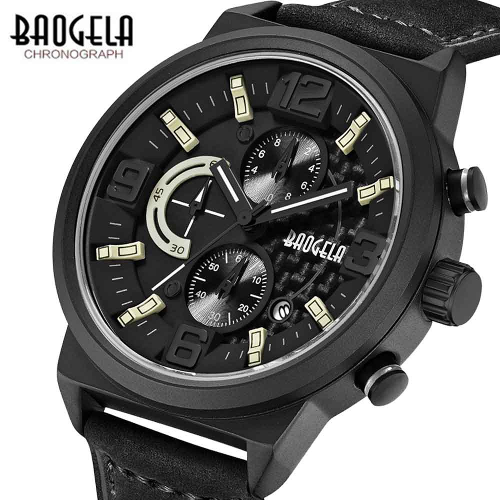 BAOGELA 2018 Men Fashion Quartz Watch Male Casual Leather Band Wristwatches Waterproof Watches Relogio Masculino baogela 2018 men fashion quartz watch male casual leather band wristwatches waterproof watches relogio masculino
