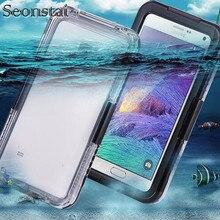 Seonstai водонепроницаемый чехол для Samsung Galaxy S8 S5 S7 Edge Универсальный Полный Защитный сенсорный экран PC TPU оболочка для Galaxy Note 5 4