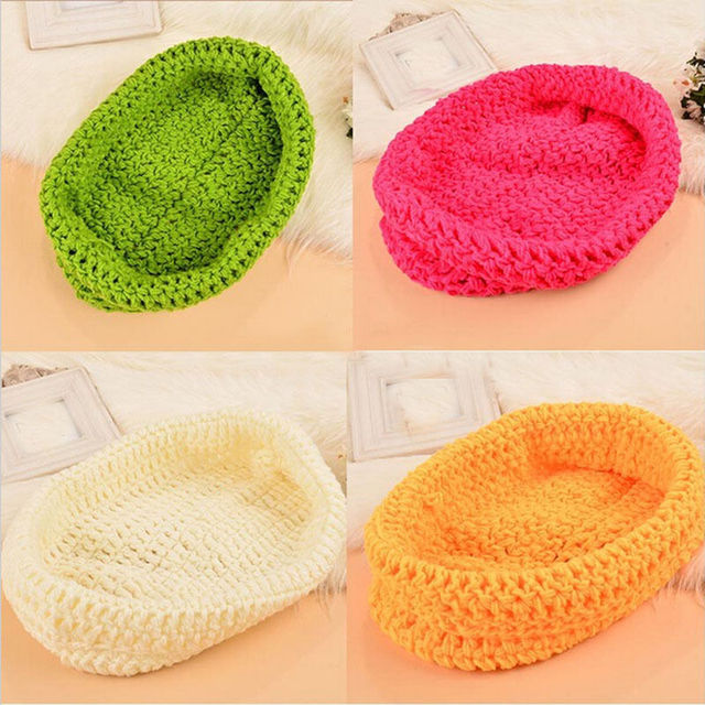 Newborn Infant Toddler Lovely Knitted Chunky Cocoon Nest Baby Pod