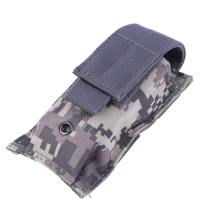 Multi function Military Molle Pouch Knife Flashlight Sheath Airsoft Hunting Ammo Camo Bags Tactical Single Pistol Magazine Pouch in Hunting Bags from Sports Entertainment