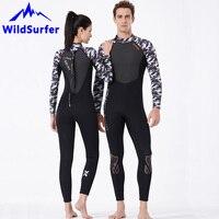 WildSurfer Couple Wetsuit 3mm SCR Neoprene Men Swim Snorkeling Diving Wet Suit Women Shark Skin Scuba Spearfishing Swimwear W127