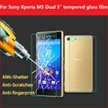 """1pair 0.26mm Anti-shatter screen protector film for Sony Xperia M5 Dual 5"""" Tempered Glass for sony E5603 lcd protective films"""