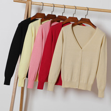 Knitted V-Neck Long Sleeve Sweater