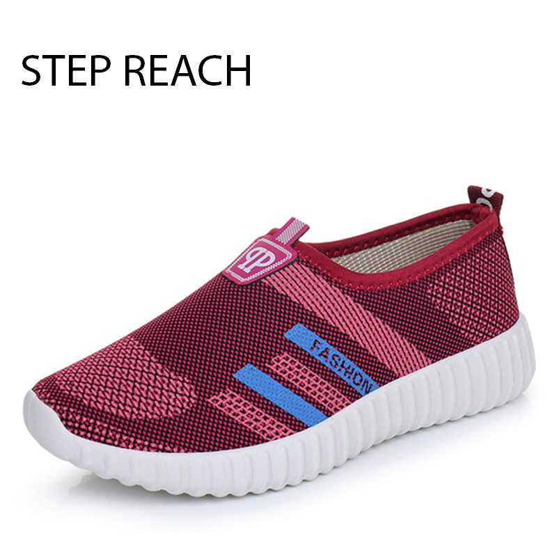 Women s Casual Slip on Loafers Cotton Breathable Ladies Flat Platforms Woman Soft Comfort Walking Driving