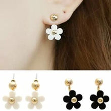 2019 New Hot ! Fashion Fine Jewelry Cute Daisy Petals Gold Color Elegance Neckband Stud Earrings For Women Ladies' Gifts(China)
