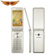 Original Samsung Galaxy Ordner G1600(2016) 3,8 zoll Quad Core 2GB RAM 16GB ROM Dual SIM 1,4 GHz LTE Flip Entsperrt Handy