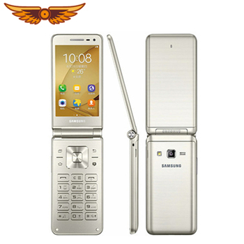Original Samsung Galaxy Folder G1600(2016) 3.8 Inch Quad Core 2Gb Ram 16Gb Rom Dual Sim 1.4Ghz Lte Flip Unlocked Mobile Phone Refly Original/hoodmat.com