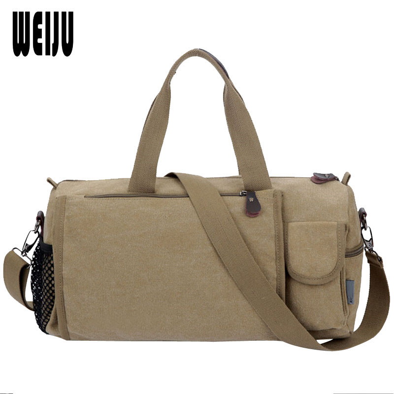 WEIJU New 2017 Casual Canvas Men Travel Bags Fashion Vintage Luggage Duffle Bags Large Capacity Travel Bags YA0555