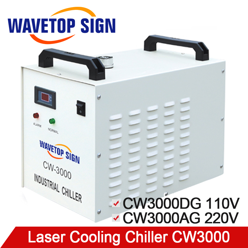 S&A CW3000 Industry laser chiller 60W 80W Air Water Chiller for CO2 Laser Engraving Cutting Machine Cooling cw5000 industry air water chiller for co2 laser engraving cutting machine cooling 80w 100w laser tube
