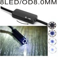 JCWHCAM Lens 8mm 1200P 8 Led Wifi Usb Endoscope Inspection Borescope Snake Video Flexible Camera For