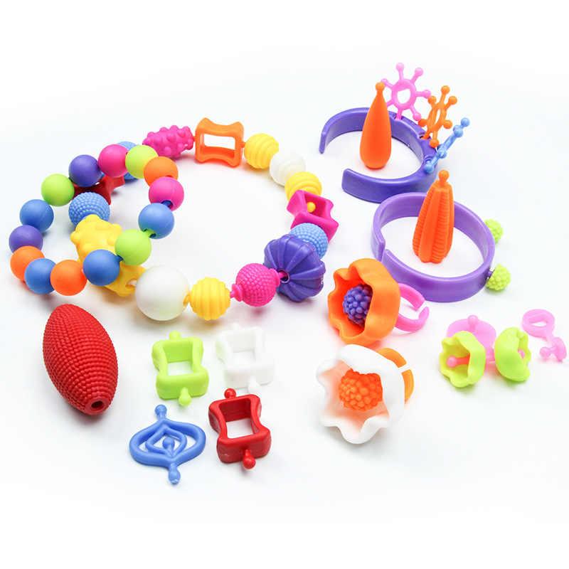 740 шт. поп-бусины Diy набор полос для девочек игрушки 5 7 креативные ремесла браслет дети бусина комплект ювелирных изделий Развивающие игрушки для детей