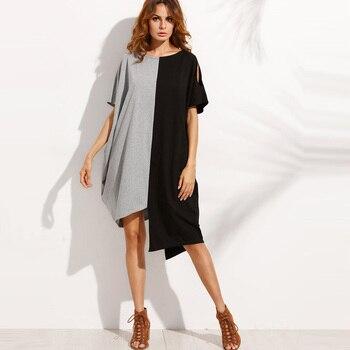 2019 Summer Women Dress Plus Size Casual Blouse Shirt Dress 5XL Short Beach Shift Dresses Loose Short Sleeve Party Vestidos
