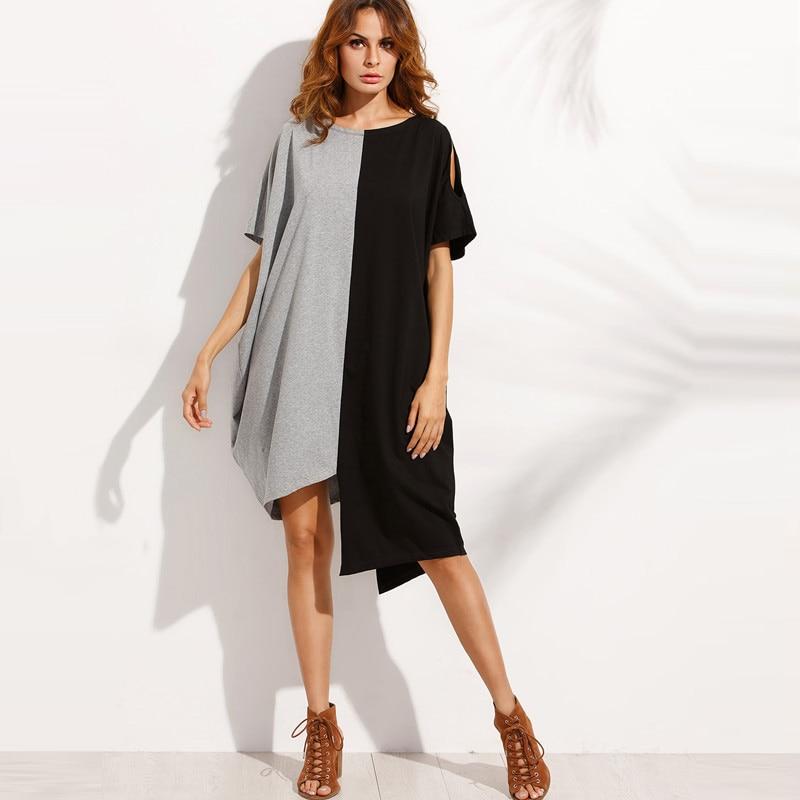 2019 été femmes robe grande taille blouse décontractée chemise robe 5XL courte plage décalage robes lâche à manches courtes fête robes