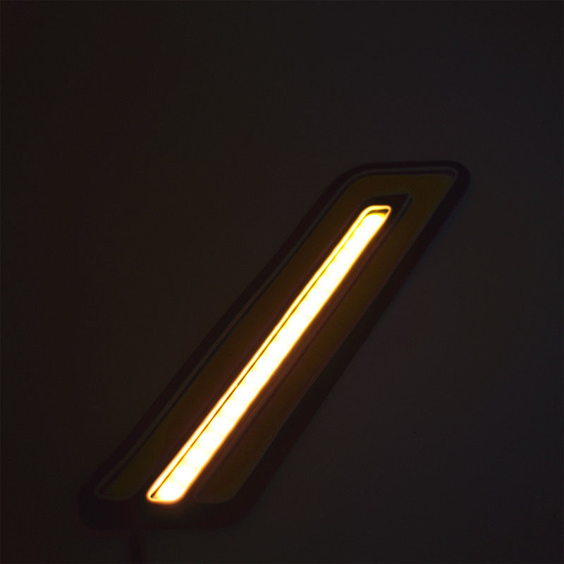 1 Pair COB Flexible U Type DRL Car styling Auto Accessories LED Day Light Daytime Running Lights in Signal Lamp from Automobiles Motorcycles
