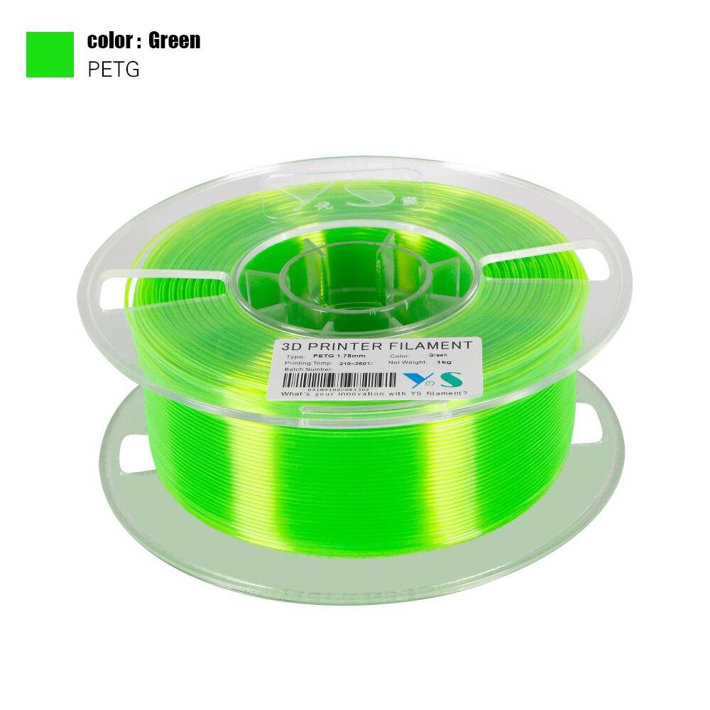YouSu 3D Printer Filament PETG 1.75mm Roll 1KG 400m for RepRap//Makertbot//CUBEX