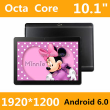 Tablet PC 10 10.1 дюймов 3 г 4 г планшетный Окта Core 1920*1200 ips 4 г озу пзу 128 ГБ android 6.0 gps bluetooth Dual sim-карты Телефона вызова