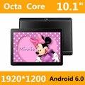 Tablet PC 10 10.1 polegada 3g 4g núcleo do comprimido Octa 1920*1200 ips 4g ram rom 128 gb android 6.0 gps bluetooth Dual sim card Telefone chamada