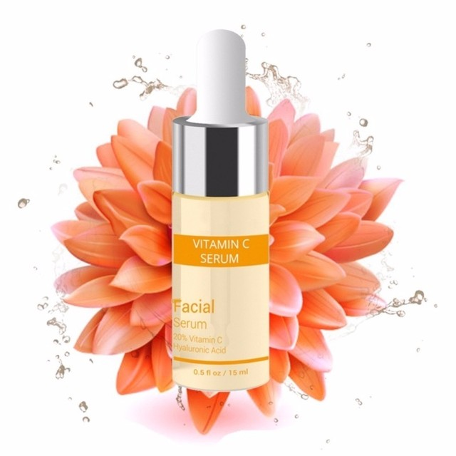 15 ml suero blanqueador de vitamina C suero ácido hialurónico removedor de crema facial manchas de pecas Anti-envejecimiento Esencia de cuidado de la piel TSLM2