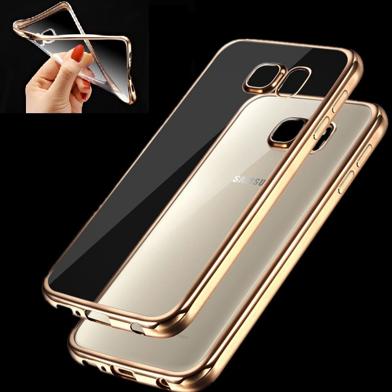 Fashion Luxury Phone Case for Samsung Galaxy S6 S6 Edge Plus S7 Edge S8 S8 Plus Note5 High Quality Cover Transparent Soft Cases