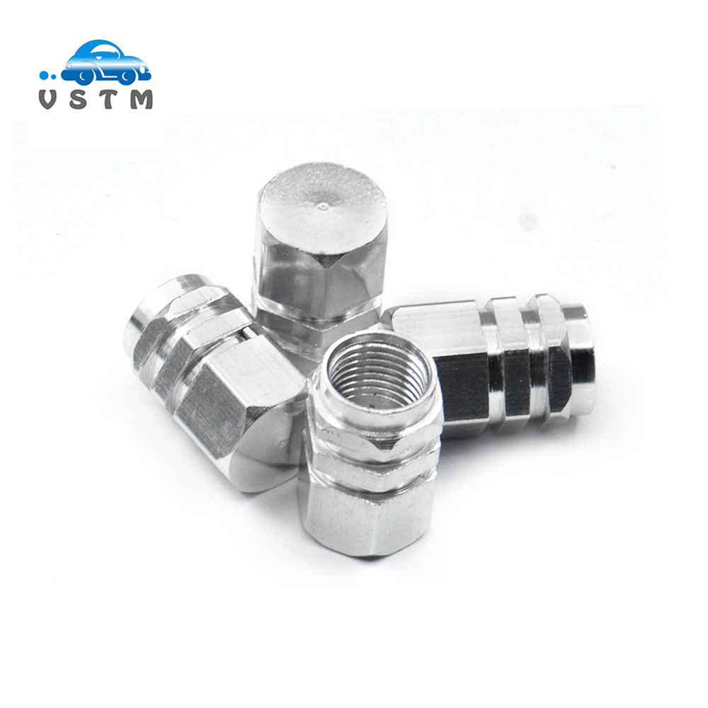Tire Valve Stems High Pressure Free Ship 4pc Nickle Plated Brass Chrome Look