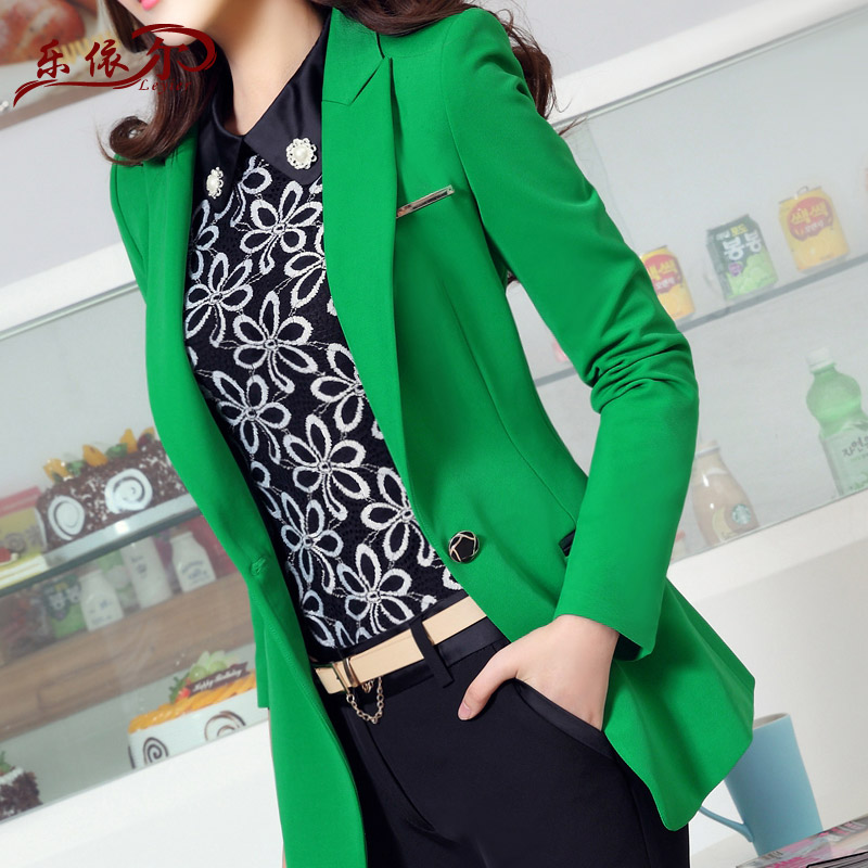 2015Winter style Lady OL female long sleeved small suit large size women s casual suit jacket