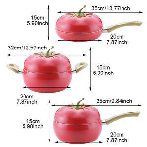 Image 2 - Sartén antiadherente con forma de fruta para olla de cocina sartén de Color sartén parrilla sartén Cocina de Inducción Gas utensilios de cocina de aluminio