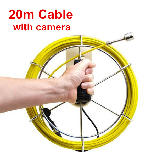 Security Camera Wire Tool : Hot m fiberglass cable pipe inspection camera system