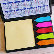Новая Мода Кожа Box Memo Pad DIY Смазливая Kawaii Цветная Бумага Липкая Примечание Наклейки Творческий Подарок Элементы Новизны Бесплатная Доставка