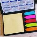 Nueva Caja de Cuero de Moda BRICOLAJE Cojín de Nota Lindo Sticky Note Kawaii Papel De Color Etiqueta del Regalo Creativo Novedad Artículos El Envío Gratuito
