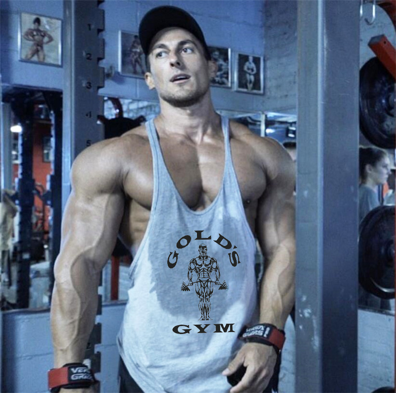 Brand bodybuilding stringer tank top men musculation golds vest gyms clothing and fitness men undershirt solid tank blank shirt(China)