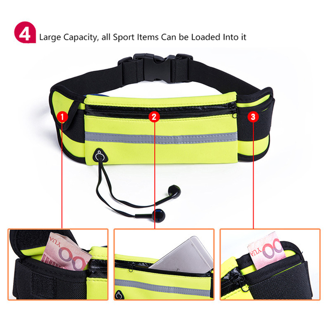 Men Women Running Waist Bag Waterproof Mobile Phone Holder Jogging Sports Running Gym Fitness Bag Lady Sport Accessories 5