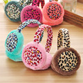 (DW084) Fashion Women Ladies Girls  After Wearing Warm Plush Warm Leopard Earmuffs 1PC/1Lot  6Colors to choose