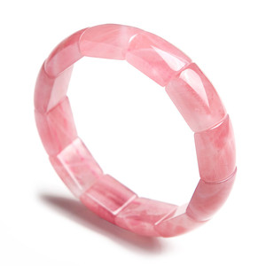 Женский браслет AAAAA, из 100% натурального розового кварца, 15*8 мм