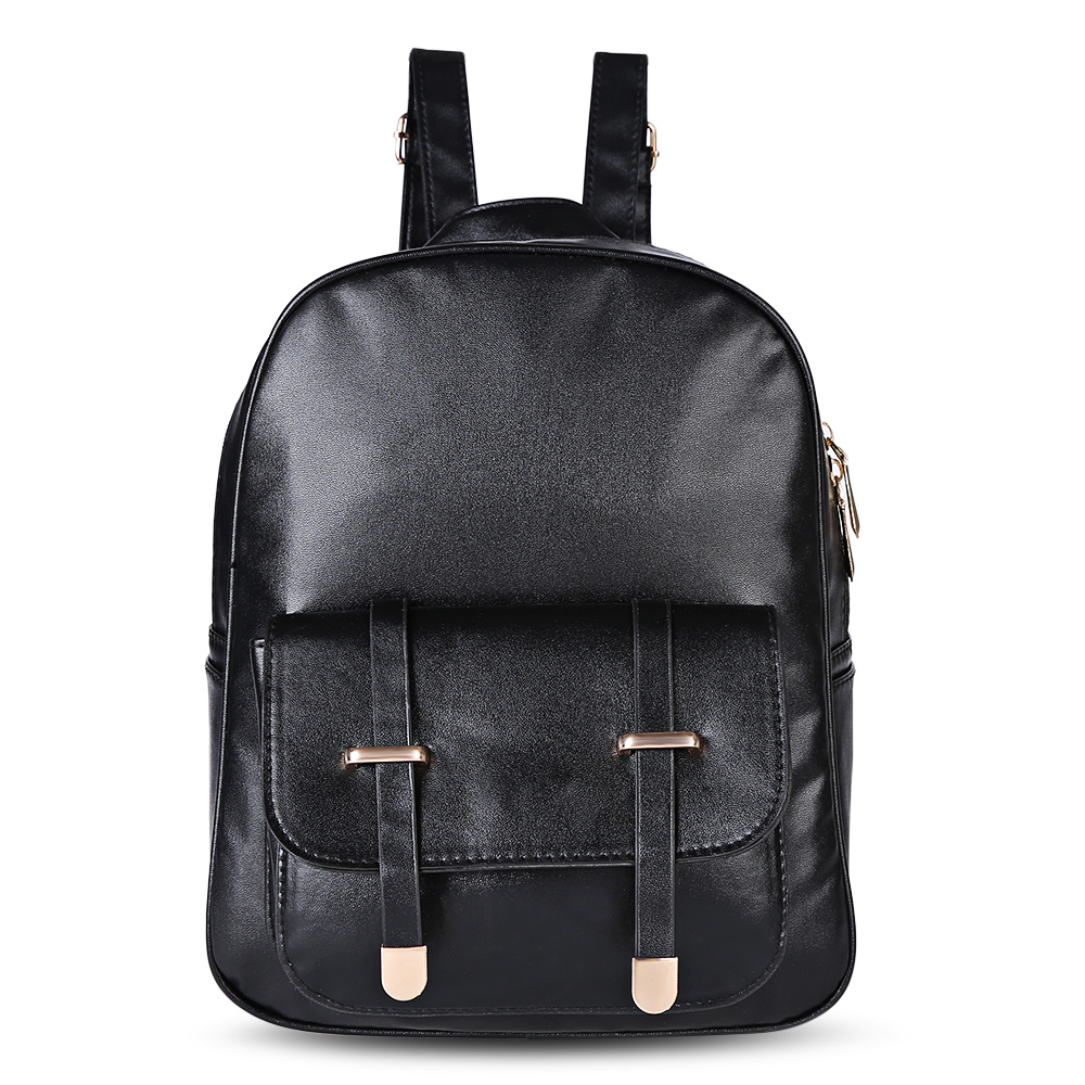 Fashion 3pcs Leather Backpack Women Schoolbag Stylish New Preppy Style Shoulder Bag Casual Backpack For Girls Students