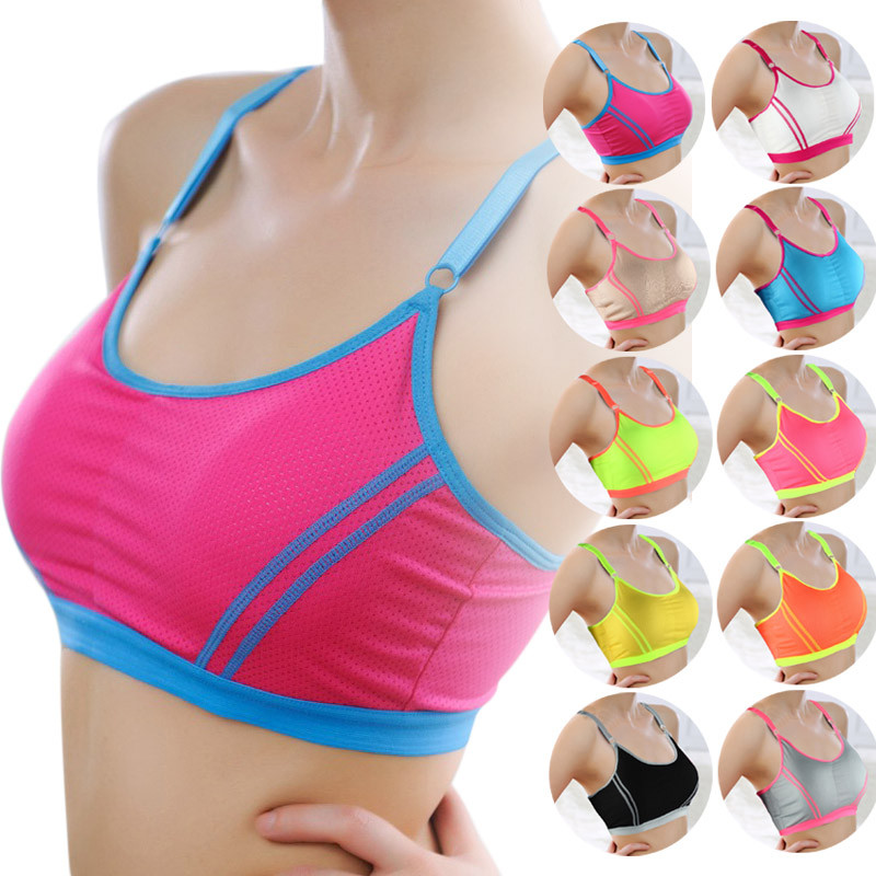 Women Lady Female Cycling Vest Tank Top Crop Sports Yoga Athletic Solid Wrap Chest Strap Outdoors Sport Vest Tops Bra C3 Security & Protection
