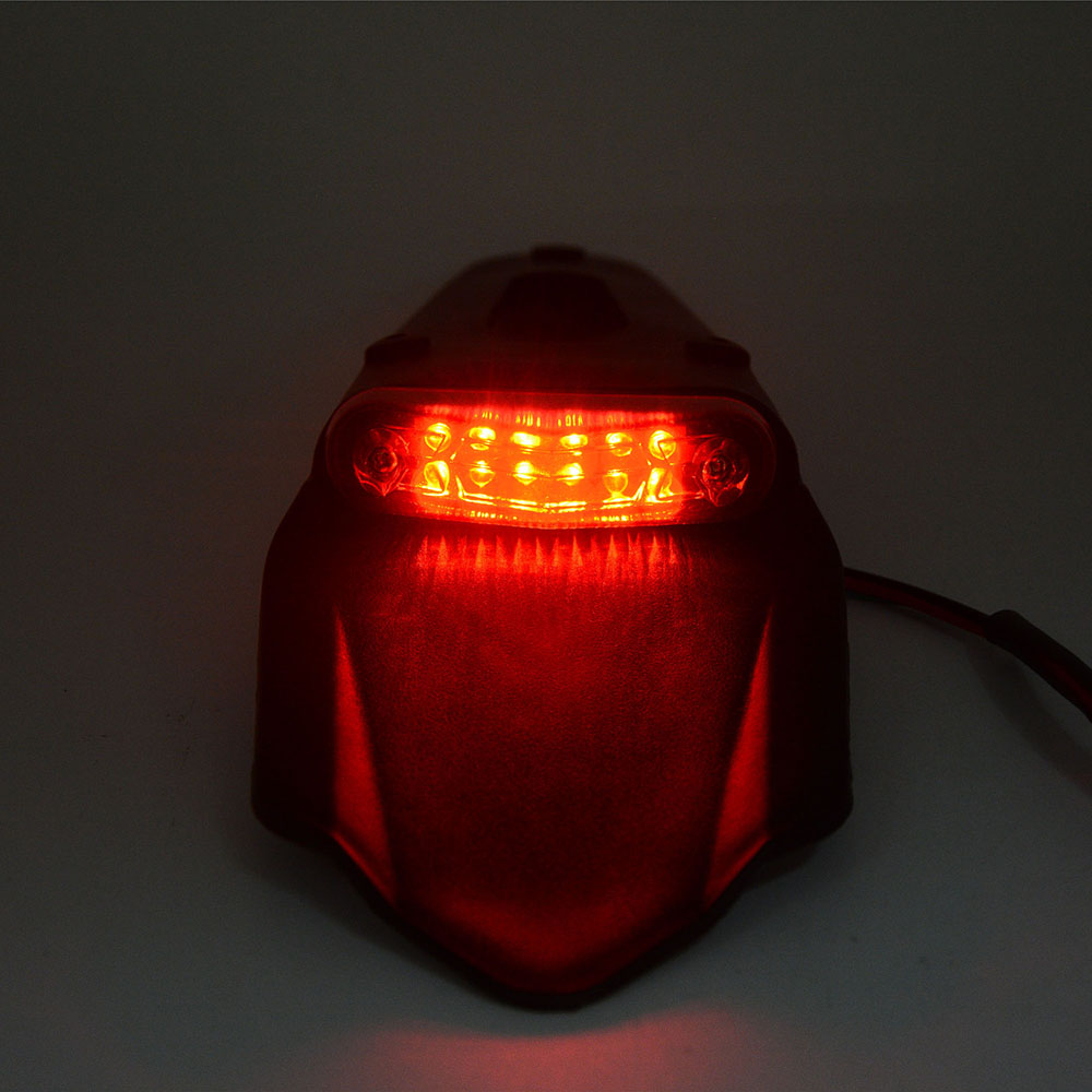 FOR KTM HONDA YAMAHA CRF EXC WRF 250 400 426 450 Motorcycle Tail Light Motorbike Rear Fender Stop LED Tail Lights