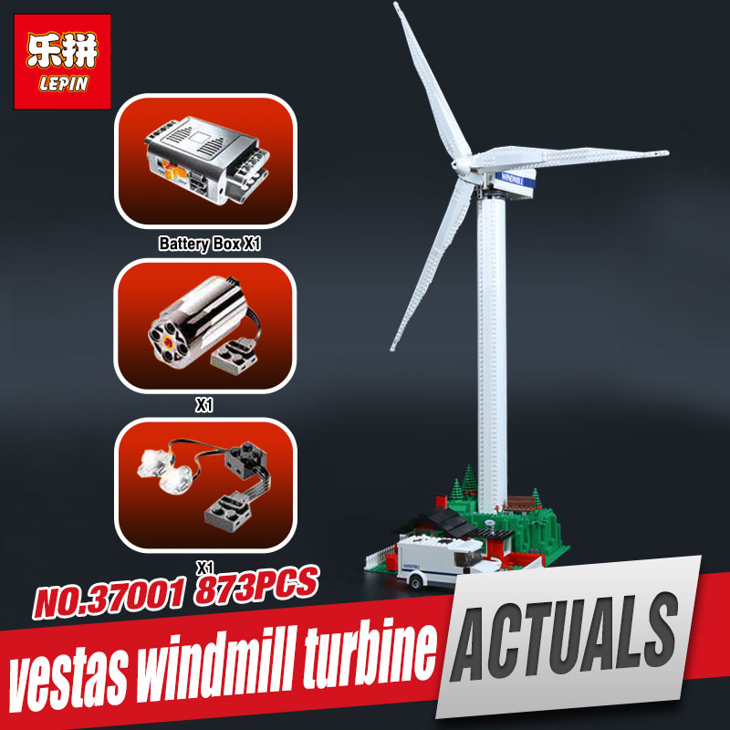 Lepin 37001 Creative Series The Vestas Windmill Turbine Set Children Educational Building Blocks Bricks Toys Model for Gift 4999 lepin 02006 815pcs city police series the prison island set building blocks bricks educational toys for children gift legoings