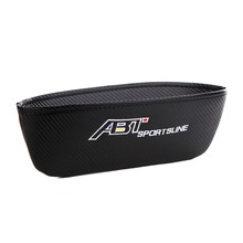Embroidery for ABT emblem Car carbon fiber style seat crevice storage bag Volkswagen polo golf 4 6 7 passat b5 accessories