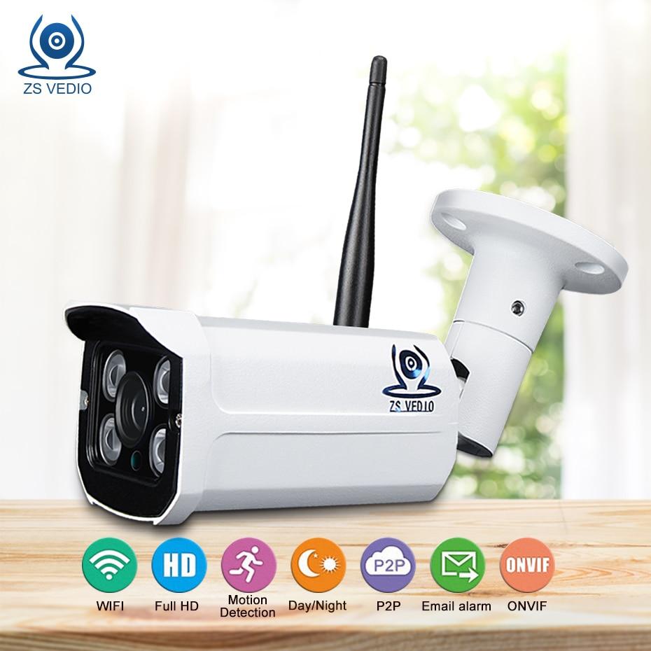 ZSVEDIO IP Camera WiFi 720p 960p 1080P CCTV Cam IR Night Vision Waterproof Outdoor Surveilence Monitor Security FTP Alarm Camhi