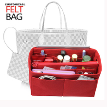 Customizable Felt Insert Bag Organizer In For Handbag Purse (w/Detachable Zip Pocket) Fits Speedy Neverfull
