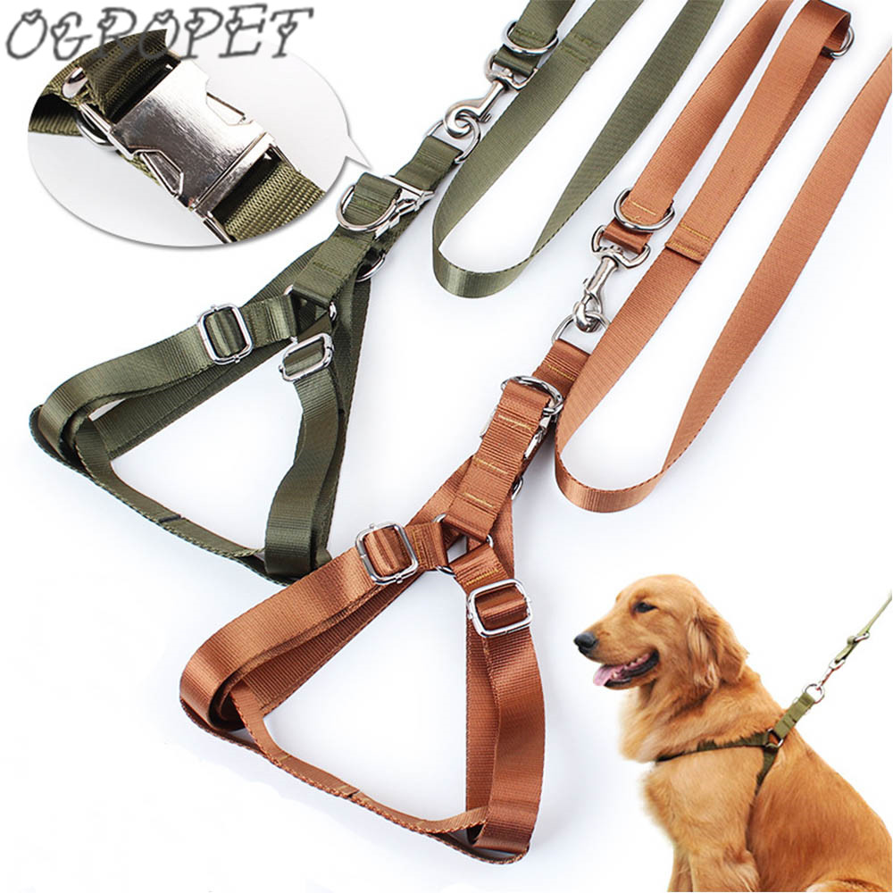 Petcircle Hot Sale pet dog leash Traction Rope Pet dog harness Dog Collar for large dogs 3 color size M-L