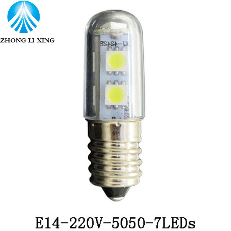 <font><b>led</b></font> work light chandelier 220v <font><b>E14</b></font> 1.5W 3W <font><b>LED</b></font> Small <font><b>Mini</b></font> Bulb Lights Indicator <font><b>Lamp</b></font> For Fridge <font><b>Refrigerator</b></font> Freezer Chandelier image