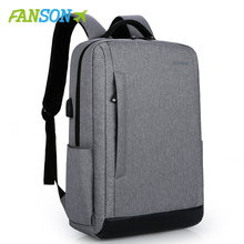 FANSON Business Laptop Backpack 14 15.6 inch Fashion Men Tra