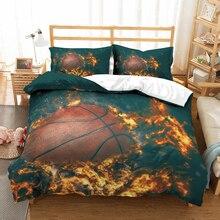 Basketball 3D bedding set Duvet Covers Pillowcases comforter bedding sets bedclothes bed linen 3D basketball print Ball sports