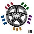 4 unids Aluminio Llantas Tire Vástago de la Válvula de Aire del Neumático Caps Cubierta Del Coche camión de la Bici para Hyundai Elantra Sonata 8 IX35 I30 I20 de todos