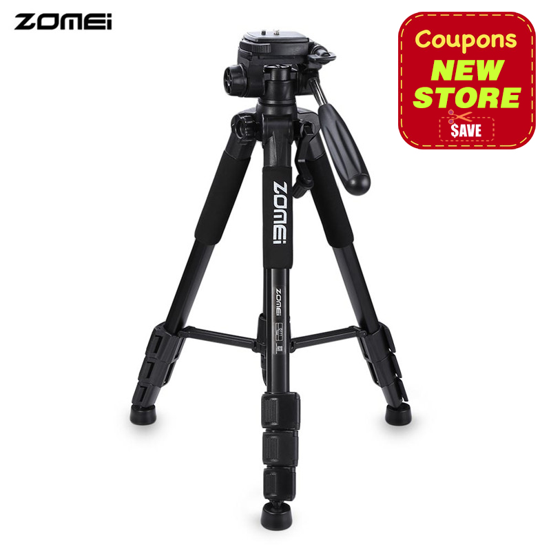 2017 New Zomei Q111 Professional Tripod Portable Pro Aluminium Tripod Camera Stand with 3-way Pan Head for Digital Dslr