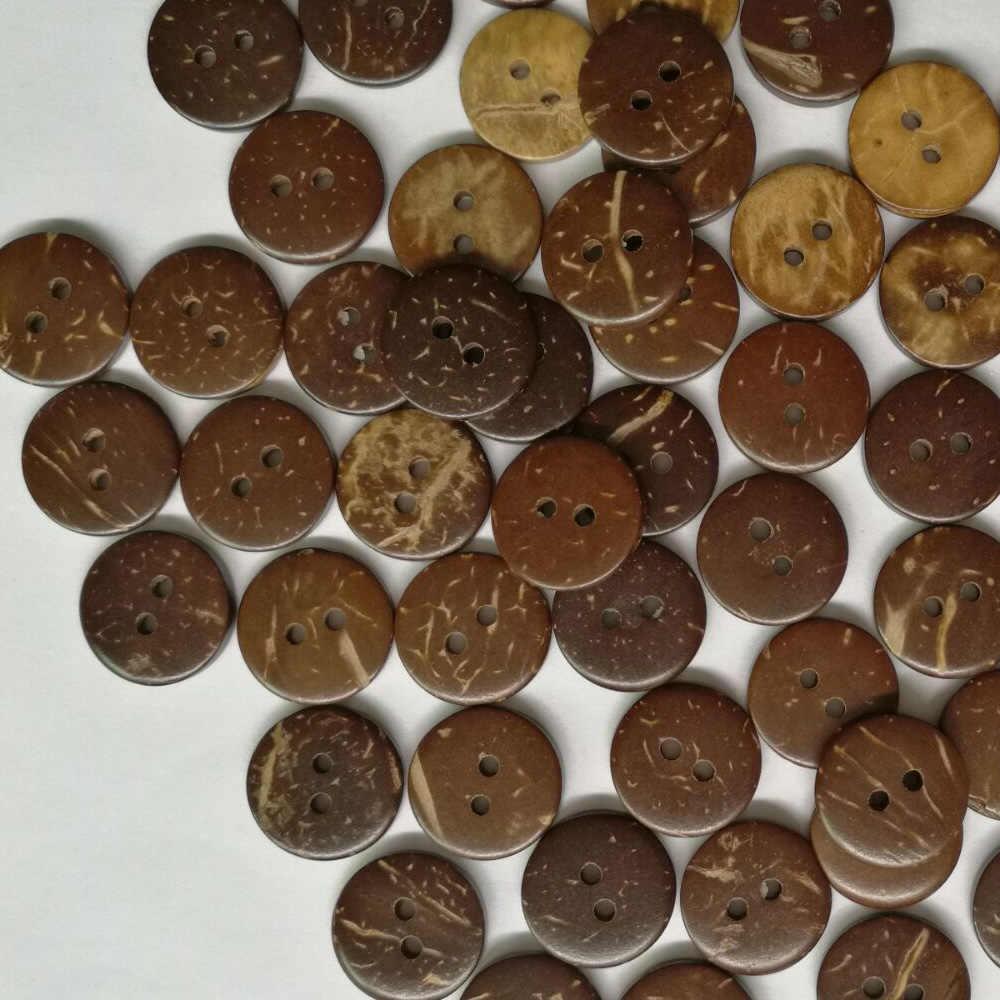 100 шт. декоративные натуральный большой круглый пуговицы кокосового цвета деревянный 15 мм 20 аксессуары для скрапбукинга шитья одежда рубашка